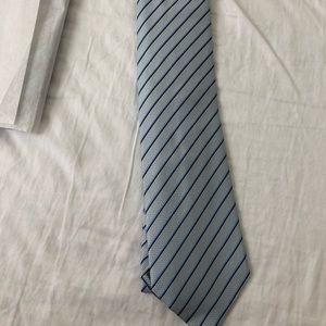 Armani Collezioni Silk Tie Blue